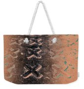 No O's - Negative In Copper Weekender Tote Bag