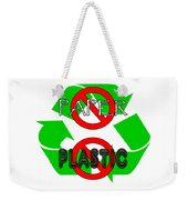 No Paper No Plastic Recycle Weekender Tote Bag