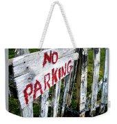No Parking Weekender Tote Bag