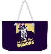 No Room For Rumors - Uncle Sam Weekender Tote Bag