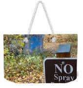 No Spray Painting Weekender Tote Bag