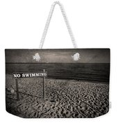 No Swimming Weekender Tote Bag