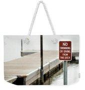 No Swimming Or Diving Weekender Tote Bag