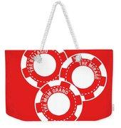 No056 My Oceans 11 Minimal Movie Poster Weekender Tote Bag