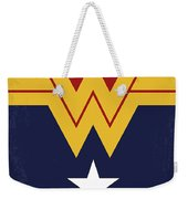 No825 My Wonder Woman Minimal Movie Poster Weekender Tote Bag