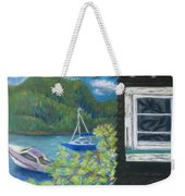 Noble Cottage At The Lake Weekender Tote Bag