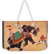 Nobleman Riding Elephant Weekender Tote Bag