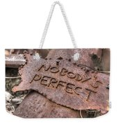 Nobodys Perfect Rust Rusty Sign Signage Rustic Throw