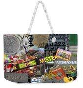 Nola Collage Art Shotgun House Weekender Tote Bag