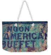 Noon American Buffet Weekender Tote Bag
