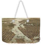 Norfolk And Portsmouth Map Weekender Tote Bag