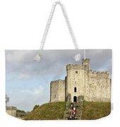 Norman Keep At Cardiff Castle Weekender Tote Bag