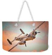 Pacific Princess North American B-25 Mitchell Across Rosy Skies Weekender Tote Bag