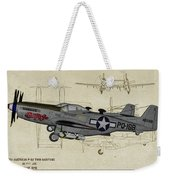 North American F-82b Twin Mustang - Profile Art Weekender Tote Bag