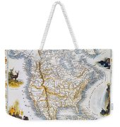 North American Map, 1851 Weekender Tote Bag