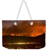 North Boulder Colorado Fire Above In The Hills Weekender Tote Bag