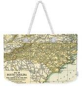 North Carolina Antique Map 1891 Weekender Tote Bag