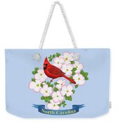 North Carolina State Bird And Flower Weekender Tote Bag by Crista Forest