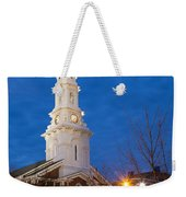 North Church At Twilight, Portsmouth, New Hampshire Weekender Tote Bag