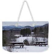 North Conway Winter Mountains Weekender Tote Bag