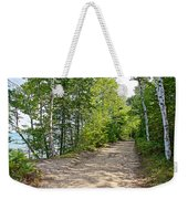 North Country Trail In Pictured Rocks National Lakeshore-michigan  Weekender Tote Bag