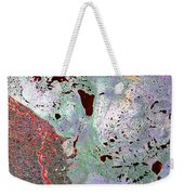 North Of Canada From Space Weekender Tote Bag