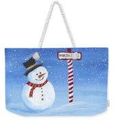 North Pole Weekender Tote Bag