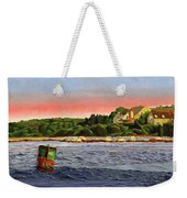 North River At Sunset Weekender Tote Bag