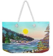 North With Yellow Sun Weekender Tote Bag