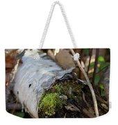 North Woods Mossy Birch Weekender Tote Bag