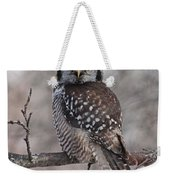 Northern Hawk Owl 9470 Weekender Tote Bag