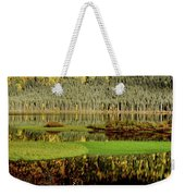 Northern Lake Weekender Tote Bag