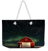 Northern Lights Canada Barn Weekender Tote Bag