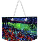 Northern Lights Embracing Poppies Weekender Tote Bag