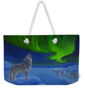 Northern Lights Night Weekender Tote Bag