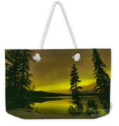 Northern Lights Over The Pines Weekender Tote Bag