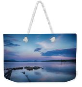 Northern Maine Sunset Over Lake Weekender Tote Bag