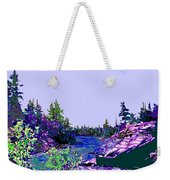 Northern Ontario River Weekender Tote Bag