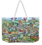Northern Virginia Map Illustration Weekender Tote Bag