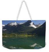 Norway, Briksdal Glacier At Jostedal Weekender Tote Bag