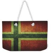 Norway Distressed Flag Dehner Weekender Tote Bag