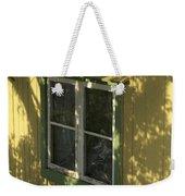 Norway, Sandvig, Shadow Of Tree On Wall Weekender Tote Bag