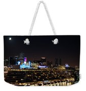 Norwegian Cruise Ship And Lunar Eclipse Weekender Tote Bag