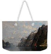 Norwegian Fjord Landscape Weekender Tote Bag