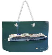 Norwegian Star In Geiranger Norway Weekender Tote Bag