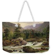 Norwegian Waterfall Weekender Tote Bag