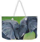 Nose To Nose In Green Weekender Tote Bag
