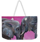 Nose To Nose In Pink Weekender Tote Bag