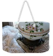 Nostalgia - Old Lace And Lamp Base Weekender Tote Bag