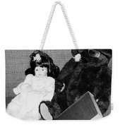 Nostalgic Doll And Bear With Reading Book Weekender Tote Bag